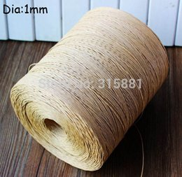 Wholesale paper cords resale online - Brown Paper Cord Tags Cord for weddings crafting gift wrapping packaging mm M