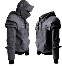 aff0d60c8b1e3 Knight pullover online shopping - Face Mask Knight Hoodies Autumn And Winter  Warm Solid Color Pullover