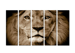 Digital Art For Sale NZ - Large Contemporary Hot Sale Art Wall Animal Lion Head oil painting Picture Printed on canvas for Living Room Bedroom Home Decor Aset194