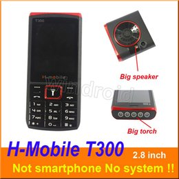 Cheap Mp3 Phones Australia - Cheap H-Mobile T300 2.8 inch Mobile Cell Phone Dual Sim Quad Band 2G GSM Unlocked with big torch speaker whats app Free shipping DHL 20pcs