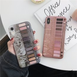 Iphone pInk case cover online shopping - Eye Shadow Box Case For iPhone X XR XS Max IMD Silicone Phone Back Cover For Iphone Plus