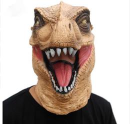 $enCountryForm.capitalKeyWord Australia - Scary T-Rex Mask Halloween Realistic Jurassic World Dinosaur Mask Adults Animal Cosplay Costume Party Mask Supplies