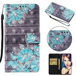 $enCountryForm.capitalKeyWord Australia - 3D Leather Wallet Case For Huawei P30 Pro Y9 2019 Mate 20 Lite Honor 8X P20 Enjoy 7 7S Flower Bling Diamond Skull Dreamcatcher Flip Cover
