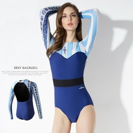 1479714eeff73 Wetsuit sWimsuit Women online shopping - 2019 Fashion One piece Swimsuits  Women Girls Sexy Sunscreen Slim