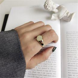 925 Sterling zilveren sieraden ronde open verklaring ringen voor vrouwen anillos mujer 18k gouden kleur bruiloft geschenken mode verstelbare ring