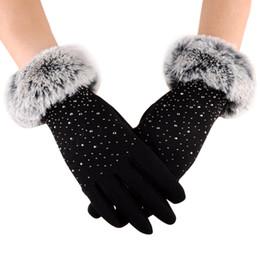 Mulheres quentes de Inverno Ao Ar Livre Esporte Quente Luvas de Pulso Luvas femininas para o inverno luvas femininas bonito Luvas de inverno Dedos Cheios em Promoção