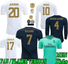 Real madRid fans online shopping - HAZARD PLAYER VERSION FANS Real Madrid soccer jerseys full MILITAO camiseta Men away third VINICIUS football shirt kids