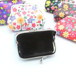 card holder wholesale NZ - Womens Flower Wallet Card Holder Coin Purse Retro fashion wallets women wallet men Clutch Handbag cartera mujer for gift