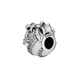 $enCountryForm.capitalKeyWord Australia - Christmas charms original 925 sterling silver fits for pandora style bracelet Limited Edition Silver Christmas Ornament 797649EN23 H8