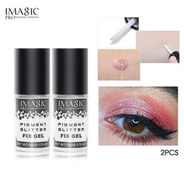 easy simple makeup Australia - IMAGIC Shiny Eyeshadow Primer Professional Base Cream Makeup Cream Glue Sequin Multi-Color Makeup Combination Glue Suit