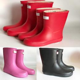 Kids Shoe Rain Boot Australia - Kids H Letter Print Rainboots Candy Color Mid Calf Rain Boots Children Waterproof Rubber Water Shoes Boys Girls Rainshoes hot A41306