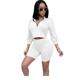 e62748324c Sexy 2 Piece Set Women Clothes Crop Tops Comfortable Shorts Suits Summer Autumn  Outfits Two Piece Matching Sets Casual Tracksuit dhl