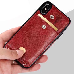 Universal cell phone wallet online shopping - For Iphone XS Max XR Plus Wallet Cell Phone Case With Laryand For PU Leather Cases Wallet Back Cover Pouch With Card Slot