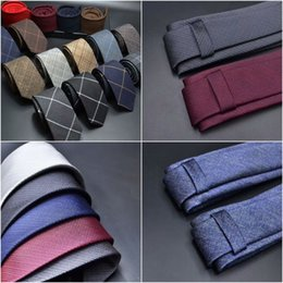 Skinny tie paiSley online shopping - wool ties for men women acrylic blended Striped Dotted Solid Plaid Quality Cravats Gravatas Wedding Party Leisure and Anniversary