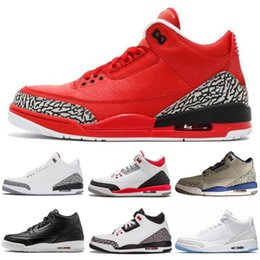 shoe linings Australia - Mocha 3s Tinker Jumpman 3 III Men Kids Basketball Shoes Katrina Knicks Rivals Free Throw Line Quai 54 WOLF grey Man Sports Sneakers