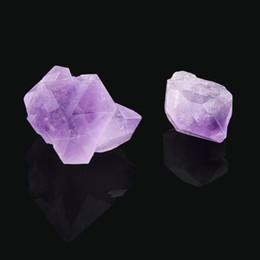 Natural Hexagonal Crystal Quartz Healing Fluorite Wand Stone Purple Gem F5 C19041101 on Sale