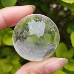 clear balls NZ - Free shipping 1pcs Natural Clear White Quartz Crystal Sphere Ball Healing Gemstone Crystal Ball Collection