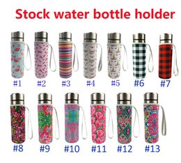$enCountryForm.capitalKeyWord Australia - Flamingos Neoprene Water Bottle Cooler Bottle Holder Cover Sleeve Insulated Glass Drink Bottle Protection Cover Carrier Drinkware Accessory