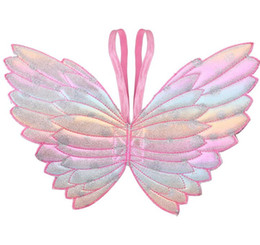 $enCountryForm.capitalKeyWord UK - Party Favor Girs wings glitter star magic wands fancy dress cosplay fairy gradient color butterfly wing tassel sequins wand pink girls gift
