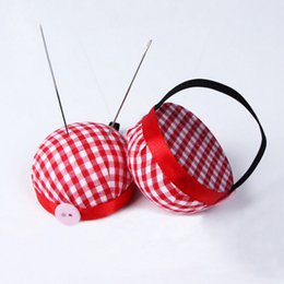 painting quilts UK - 1pc Ball Shaped Needle Pin Cushion With Elastic Wrist Belt DIY Handcraft Tool for Cross Stitch Sewing Home Sewing Accessories