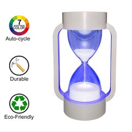 hourglass timers minute NZ - BRELONG hourglass LED warm light, 10 minute toy hourglass timer for children to stay focused, birthday gifts, students and decorations 1 pc