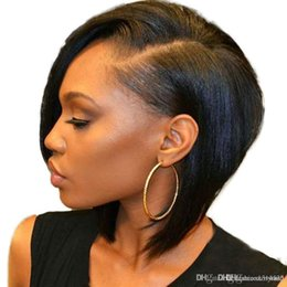 $enCountryForm.capitalKeyWord Australia - Full Lace Human Hair Wig Short Bob Cut Straight Brazilian Remy Pre Plucked Hairline Pre Plucked Lace Front Human Hair Wigs