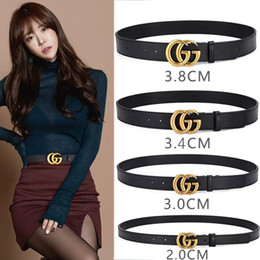 Strapped Belts Australia - Fashion Men Genuine Leather Design Belts High Quality Gold and Silver Buckle Mens Belts Jeans Cow Strap For Women Belt