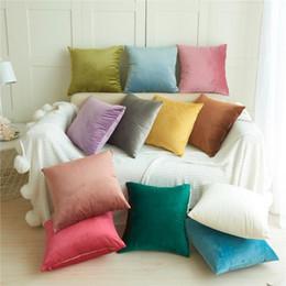 Ingrosso Velluto Frabic Divano Throw Pillow Cover Vita Cuscino Home Decor Cuscino Bedding Accessori Federe 45 * 45 cm
