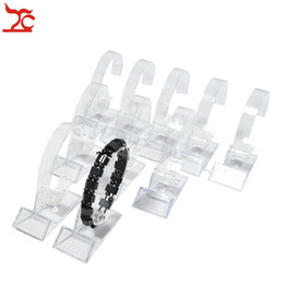 bangle organizer storage Australia - New Arrival Watch Holder Stand Display Good Toughness Bracelet Rack Clear Rotating Watch Bangle Chain Organizer Storage