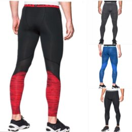 Solid Colored Leggings Australia - Men's U&A Compression Tight Quick Dry Leggings Under Base Layer Amor Skinny Stretch Pants Jogging Sports Workout Gym Running Trousers C42401