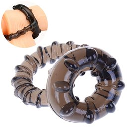 Silicone Cocks Toys NZ - HWetR Silicone Penis Cock Ring Dual Men Male Soft Time Delay Ring Lasting Product Lover Sexy Toy Game Tool Party Body Jewelry