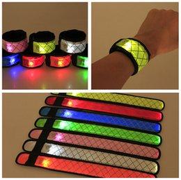 Bracelet For Concert Australia - Led Wristband Sport Slap Wrist Strap Bands Light Flash Bracelet Glowng Armband Strap For Party Concert Armband In XMAS Halloween D124
