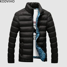 $enCountryForm.capitalKeyWord Australia - Parka Men Winter Puffer Jacket Streetwear Mens Plus Size Warm Solid Padded Coat Stand Collar Casual Quilted Overcoat Homme 6XL