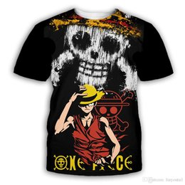 white shorts Australia - luffy One Piece anime 3D Printed Fashion T-shirts Men Summer Short Sleeve 2019 Casual Tshirts zoro sanji cosplay Tee Shirts