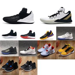 62a685fd6e4 Men kyrie flytrap 2 basketball shoes low 5s Black white Gold Team Red  Yellow youth kids kyries irving ii sneakers tennis with box size 7 12