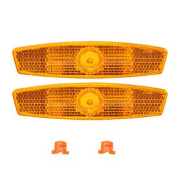 Reflective bicycle clips online shopping - a pair Bicycle Bike Wheel Safety Spoke Reflector Reflective Mount Clip Warning bike reflector light