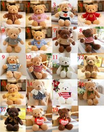 Stuffed bear SweaterS online shopping - All Series Teddy Bear Stuffed Animals Logo Label Models CM Teddy Bear Plush toys Sweater Bear Doll Best Gifts For Kids Birthday