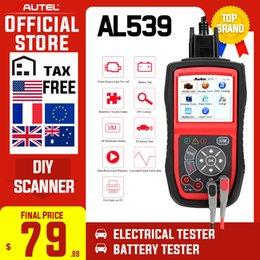 Autel AutoLink AL539 OBDII Electrical Test Tool Auto AL 539 OBD2 Scanner Internet Update Voltage Circuit Start Tester PK AL539B