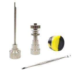 gr2 dab tool UK - 10 14 18mm Titanium Nail Bong Tool Set Gr2 Carb Cap Dabber Slicone Jar Glass Bong Smoking Water Pipes Dab Rigs