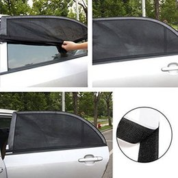 $enCountryForm.capitalKeyWord Australia - Car sunshade net 110*50cm rear window mesh bag window cover sunshade UV protection car cover visor protector mesh LJJZ529