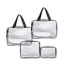 makeup organiser bag NZ - Portable Folding Travel Toiletry Wash Bag Ladies Make Up Cosmetic Bags Organiser Transparent travel makeup wash storage bag