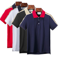 Wholesale line shirt online – design Men s short sleeve Luxury polo shirt casual sports polo lining men s fashion Designer polo shirt fashion letters new T shirt