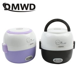 $enCountryForm.capitalKeyWord Australia - Dmwd Mini Rice Cooker Thermal Heating Electric Lunch Box 2 Layers Portable Food Steamer Cooking Container Meal Lunchbox Warmer T190619