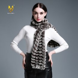 Wholesale B Long Real Rex Rabbit Fur knitting Scarf Neck Warmer Scarves Shawl Poncho Stole great christmas gift