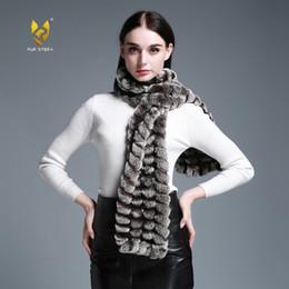 $enCountryForm.capitalKeyWord Australia - wholesale 050102B Long Real Rex Rabbit Fur knitting Scarf Neck Warmer Scarves Shawl Poncho Stole great christmas gift