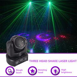 $enCountryForm.capitalKeyWord Australia - AUCD Mini 3 Heads RGB Moon Star Gobo Laser Shark Moving Beam Light DMX Professional Party Disco Show DJ Stage Lighting DJ-3HP