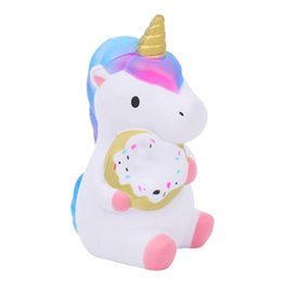 unicorn doll toy UK - Kawaii Colorful Unicorn Squishy Simulation Doll Bread Scented Slow Rising Soft Squeeze Toy Stress Relief for Funny Kids Gift