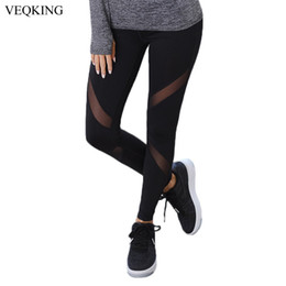 $enCountryForm.capitalKeyWord Australia - Veqking Black Mesh Patchwork Sport Leggings Women Yoga Running Pants Ladies Gym Sportwear Breathable Quick Dry Fitness Tights C19042401