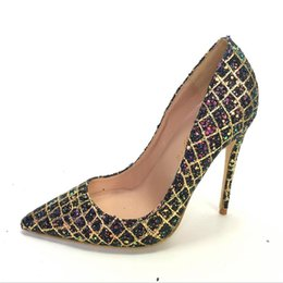 $enCountryForm.capitalKeyWord UK - 2019 free shipping fashion women sexy Wedding sequined Glitter Poined Toes high HEELED heels shoes Stiletto Heel shoes pumps 12cm 10cm