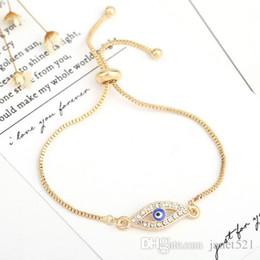 $enCountryForm.capitalKeyWord NZ - Turkeys Eyes Bracelets CZ Cross Expandable Bracelets Full Rhinestoned Personality Gold Silver Plated Chain Charm Bracelets
